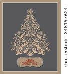 merry christmas. christmas... | Shutterstock .eps vector #348197624