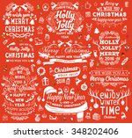 christmas decorations set.... | Shutterstock .eps vector #348202406