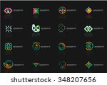 abstract line logo collection.... | Shutterstock .eps vector #348207656