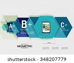 abstract info banner with... | Shutterstock .eps vector #348207779