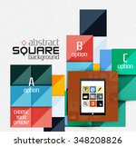 geometric square shapes and... | Shutterstock .eps vector #348208826