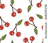 cherry pattern | Shutterstock .eps vector #348209258