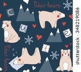 seamless pattern with cute... | Shutterstock .eps vector #348219086