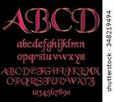 decorative font   Shutterstock .eps vector #348219494