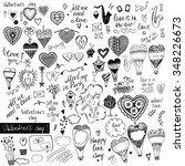 a big set of handdrawn style... | Shutterstock .eps vector #348226673