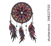 color dream catcher with... | Shutterstock .eps vector #348227510