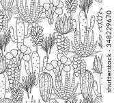 succulents cacti plant vector...   Shutterstock .eps vector #348229670