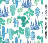 succulents cacti plant vector... | Shutterstock .eps vector #348229688