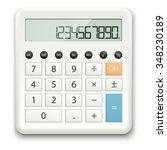 White Calculator With Standard...