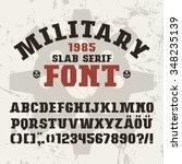 slab serif font in military...   Shutterstock .eps vector #348235139