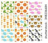 african animals vector seamless ...   Shutterstock .eps vector #348236684