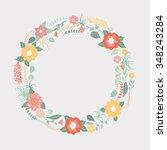 floral frame. greeting card... | Shutterstock .eps vector #348243284