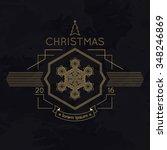 snowflake winter christmas... | Shutterstock . vector #348246869