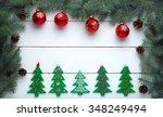 beautiful celebratory christmas ... | Shutterstock . vector #348249494