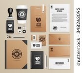 corporate identity mock up for... | Shutterstock .eps vector #348263093