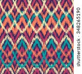 vector colorful seamless ikat... | Shutterstock .eps vector #348265190