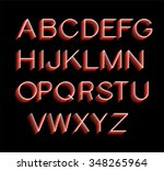 font  alphabet text graphic... | Shutterstock .eps vector #348265964
