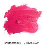 pink lipstick texture on white | Shutterstock . vector #348266624