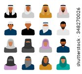vector middle eastern people... | Shutterstock .eps vector #348270026
