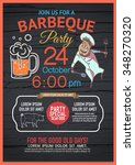 bbq party menu is unique ... | Shutterstock .eps vector #348270320