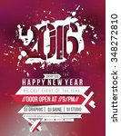 new year party flyer   poster... | Shutterstock .eps vector #348272810