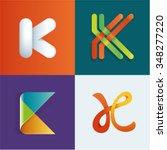 logo idea of letter k set