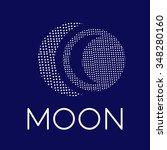 moon logo. eps 8 | Shutterstock .eps vector #348280160