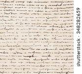 handwriting letter. seamless... | Shutterstock .eps vector #348282659