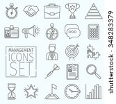 set of business icons arranged... | Shutterstock .eps vector #348283379