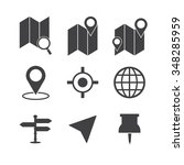 map icons set | Shutterstock .eps vector #348285959