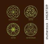 vector set of logo design... | Shutterstock .eps vector #348287309
