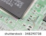 electrical circuit in the... | Shutterstock . vector #348290738