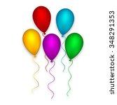 decoration balloon set pink... | Shutterstock .eps vector #348291353