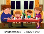 a vector illustration of happy... | Shutterstock .eps vector #348297140