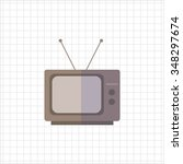 icon of retro tv set | Shutterstock .eps vector #348297674