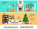 set of colorful holiday... | Shutterstock .eps vector #348300290