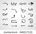 hand drawn arrows  vector set   Shutterstock .eps vector #348317123