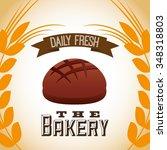 bakery shop design  vector... | Shutterstock .eps vector #348318803