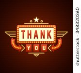 retro thank you message sign... | Shutterstock .eps vector #348320360