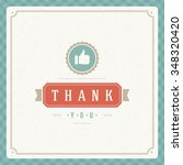 thank you message text vintage...   Shutterstock .eps vector #348320420
