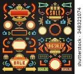 retro showtime signs design... | Shutterstock .eps vector #348321074