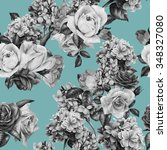 seamless floral pattern with... | Shutterstock . vector #348327080