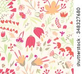 seamless floral pattern with... | Shutterstock .eps vector #348327680
