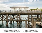 Old Wooden Dock In Swanage.