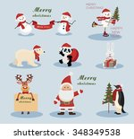 christmas and new year holiday... | Shutterstock .eps vector #348349538