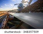 long conveyor belt transporting ... | Shutterstock . vector #348357509