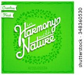 in harmony with nature. white... | Shutterstock .eps vector #348360530