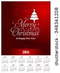 2016 printable christmas... | Shutterstock .eps vector #348361208