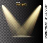vector spotlights. scene. light ... | Shutterstock .eps vector #348372989