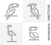 Set Of Vector Line Art Logo...